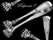 PUIFORCAT Antique French All Sterling Silver Sugar Tongs Pompadour