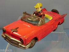 VINTAGE  YOSHIYA (K 0) JAPAN    TIN PLATE  WIND-UP  MODEL BUMP & GO CAR
