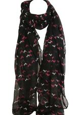 Elegant Black Color  Horse Print Scarf Scarves Stole Wrap Shawl Sarong