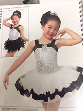 IN STOCK  Two in One Sequin tutu Feather Jazz Dress Dance Costume Child Large