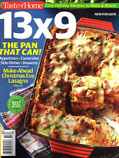 Taste of Home: 13 X 9 Magazine (Special) ~ Holiday Recipes ~ Desserts ~ NEW