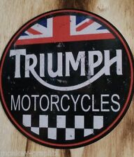 "Vintage / Retro / Oldschool Sticker Britsh Bike "" Triumph "" Gentleman Bobber"