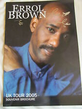 ERROL BROWN HAND SIGNED TOUR PROGRAMME (AUTOGRAPH), HOT CHOCOLATE