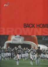 BACK HOME:  THE REBIRTH OF THE CLEVELAND BROWNS (2 VOLS.)