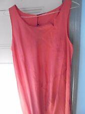 CLEMENTE Sz L Long red caftan DRESS 'Nanina' Silk & Cotton NEW w/Tags $302