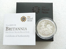 2009 Royal Mint Britannia Chariot £2 Two Pound Silver Proof 1oz Coin Box Coa