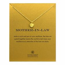 "Dogeared Mother In Law Rose Gold Dipped Reminder 16"" Boxed Necklace"