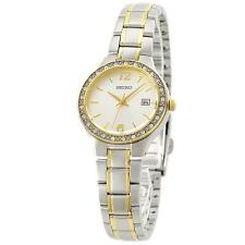 Seiko SUR783P1 Ladies Bi Colour Swarovski Set 30m Watch RRP £230 UK Stockist