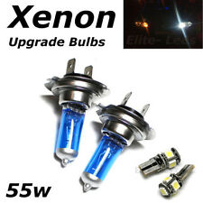 H7 55w SUPER WHITE XENON (499) HID Head Light Bulbs 12v + 5 Led W5W Sidelights
