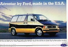 Publicité advertising 1990 (2 pages) Aerostar by Ford