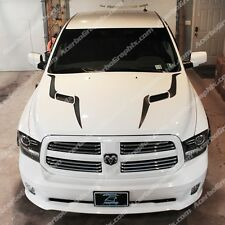 DODGE RAM 2009-16 1500 SRT Performance Sport Hood Stripe INLAY Decal MATTE BLACK