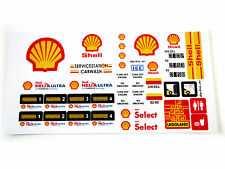 STICKERS for CUSTOM LEGO 6375 6397 7993 Shell Service Gas Station BUILDS, Etc