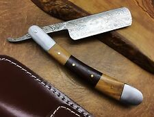 Titan's Handmade Damascus Steel Straight Razor Cut Throat-Superb Gift- 17H