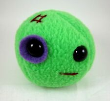 BLACK EYED PEA DESIGNER PLUSH GREEN PEA FIGURE BY FLAKY FRIENDS TOYS