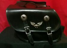 VINTAGE LEATHER MOTORCYCLE SADDLEBAGS- REAL LEATHER FREE SHIPPING