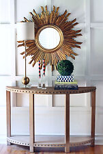 "35.5"" GOLD SUNBURST STARBURST MIRROR ANTIQUE MID CENTURY HOLLYWOOD REGENCY NEW"