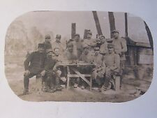 12C1 CARTE POSTALE PHOTO PORTRAIT GROUPE DE POILU 106 e RI SUR LE FRONT 14/18
