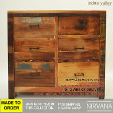 MADE 2 ORDER Nirvana Recycled Reclaimed Timber dresser chest of drawers tallboy