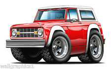 1966 1976 Ford Bronco 351 Truck 4x4 Wall Decals Sticker Graphics Garage  Room