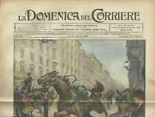 La Domenica del Corriere 13- 20 Aprile 1910 Tragica Fine di un Carabiniere