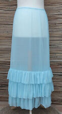 LAGENLOOK AMAZING BOHO MAXI PETTICOAT UNDERSKIRT/DRESS*SKY BLUE* WAIST UP TO 48""