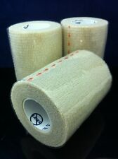 """3 Rolls 3""""x5yds Tender Tape Elastic Wrap Sticks To Itself, Not To You!"""