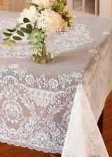 "Heritage Lace 62""x62"" DOWNTON ABBEY GRANTHAM White Square Tablecloth"