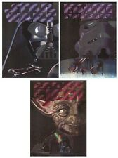 STAR WARS ~ 3 POSTER SET 23x31 DUFEX Foil Movie Trilogy Yoda Vader Trooper LOT