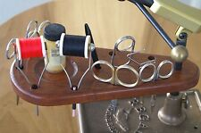 Handcrafted Solid Wild Cherry Wood Fly Tying Tool Caddy Mounts on Vise Shaft.,