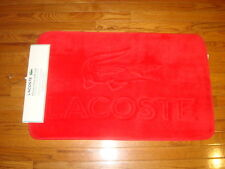 "LACOSTE MEMORY FOAM RED FLOOR/BATH MAT 21"" x 34"""