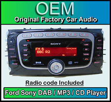 Ford S-max DAB radio car stereo with code, Ford Sony DAB CD MP3 player