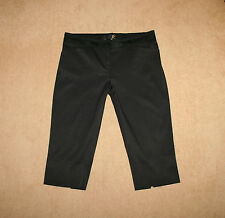 NEW Roberto Cavalli Black Sexy Slim Fit Cropped Summer Trousers Sz 44 / UK 12