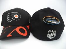 Philadelphia Flyers Reebok NHL Structured FlexFit Black Orange Hat Cap L/XL