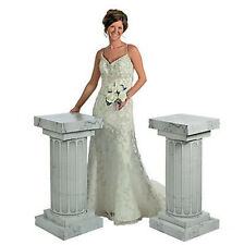 3 Feet Marble Look Fluted 2 Set Columns Wedding Party Decoration Celebration New
