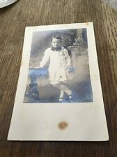Dandy Little. Boy With Flowers Giant Bow Tie And Tights RPPC POSTCARD