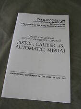 Technical Manual TDV Colt M1911A1 Cal.45 Goverment USMC Army Vietnam Marines WK2