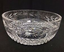 Waterford Ireland Crystal Cut Glass Glandore Centerpiece Serving Bowl 8""