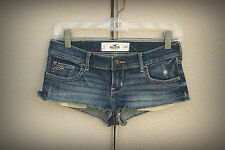 NWT Hollister Size 1/3 Sexy Mini Denim Short Shorts Splatter Skimpy Hippie
