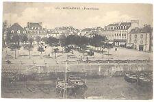 CPA 29 - CONCARNEAU (Finistère) - 1480. Place d'Armes (vue à Marée basse)