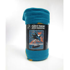 "New NHL San Jose Sharks Large Soft Fleece Throw Blanket 50"" X 60"""