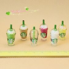 1/12 Dollhouse Miniature party  plastic Frappuccino soft drink milk shake6pieces