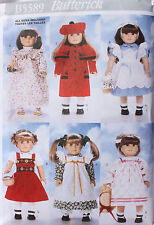 """18"""" GIRL DOLL CLOTHES Butterick Sewing Pattern 5589 NEW American Made NEW Coat"""