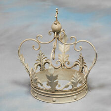 Large Decorative Antiqued White Iron Crown - 30 x 20 x 20 cm - NEW!