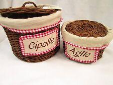 Cesto rustico porta cipolle e porta aglio