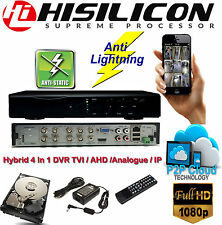 DVR 8 Channel DVR CCTV 1080 HD 4 in 1 recorder Hybrid TVI IP AHD Analogue 1TB HD