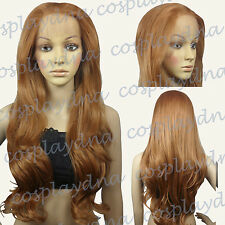28 inch Hi_Temp Series Lace Front  Light Brown Curly  Long Cosplay DNA Wigs SLLB
