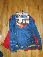 Batman V Superman Costume Mens Shirt With Removable Cape XL Rubies DC Comics New