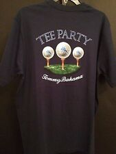 NEW TOMMY BAHAMA TR213940 RELAX NAVY COTTON GOLF TEE PARTY CREW NECK T-SHIRT M