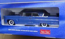 Sun Star 1/18 4712 1958 Lincoln Continental Mark III - Hard Top Seneca Blue