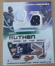 2002-03 Fleer Authentix Jersey Authentix Game of the Week #10 Walker/Webber